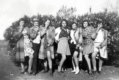 Photograph - 1942 American Bad Girls by Historic Image