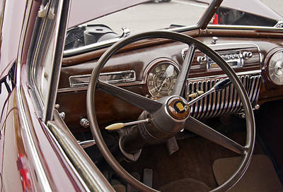 Photograph - 1942 Chevrolet Cadillac Steering Wheel by Glenn Gordon