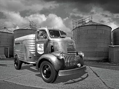 Photograph - 1942 Mobil Oil Chevy Truck by Gill Billington
