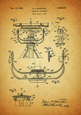 The Bunsen Burner - 1942 Surveying Instrument  by Dan Sproul