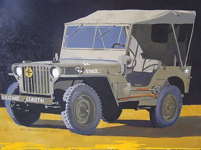 Painting - 1942 Us Army Willys Jeep by Eric Burgess-Ray
