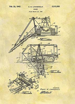 Construction Mixed Media - 1943 Grader Patent by Dan Sproul