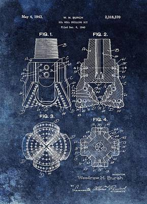 Drawing - 1943 Oil Drill Bit Patent by Dan Sproul
