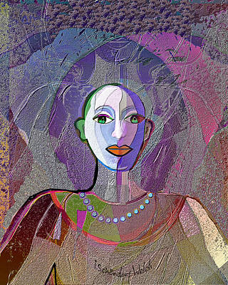 Digital Art - 1945 - Pale   Lady 2017 by Irmgard Schoendorf Welch