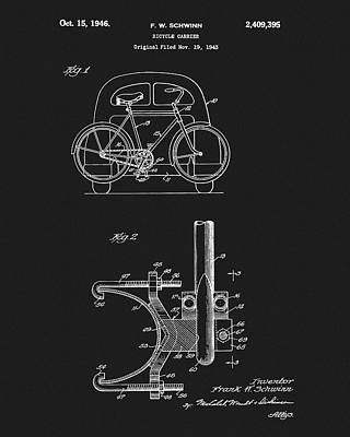 1946 Bicycle Carrier Patent Art Print by Dan Sproul