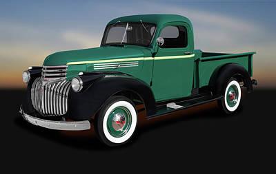 Photograph - 1946 Chevrolet Pickup Truck  -  1946chevroletpickuptruck184397 by Frank J Benz