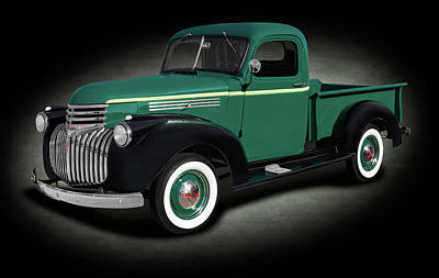 Photograph - 1946 Chevrolet Pickup Truck  -  1946chevroletpickuptruckspttext184397 by Frank J Benz