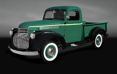Photograph - 1946 Chevrolet Pickup Truck  -  1946chevypickuptruckgray184397 by Frank J Benz