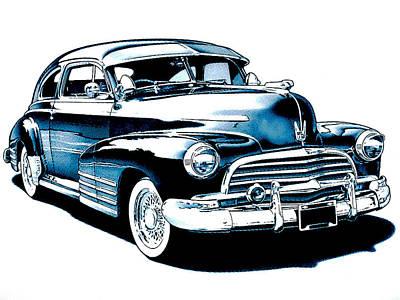 1946 Chevy Fleetline Art Print by Little Bunny Sunshine