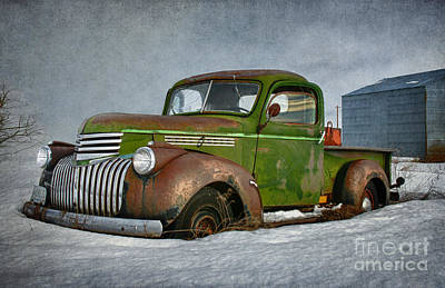 1946 Chevy Truck Art Print by Beve Brown-Clark Photography