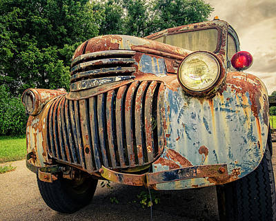 Rusty Old Trucks Photograph - 1946 Chevy Work Truck by Jon Woodhams