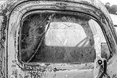 Rusty Old Trucks Photograph - 1946 Chevy Work Truck Passenger Window by Jon Woodhams