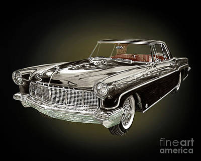 Painting - 1956 Continental M K I I by Jack Pumphrey