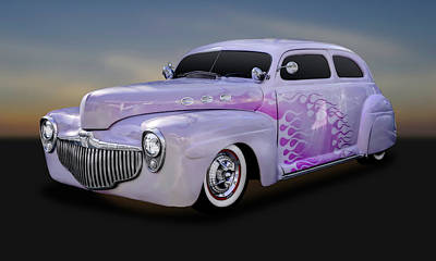 1946 Custom Ford Tudor Sedan  -  46fdsedan580 Art Print by Frank J Benz