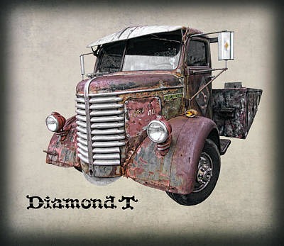 Duty Mixed Media - 1946 Diamond T Truck by Daniel Hagerman