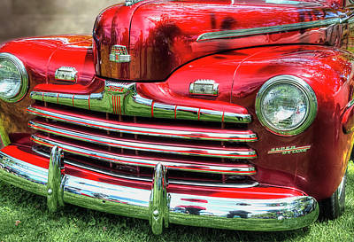 Photograph - 1946 Ford 2 Door Super De Luxe Coupe by Greg Sigrist
