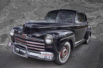 Hood Trim Photograph - 1946 Ford by Debra and Dave Vanderlaan