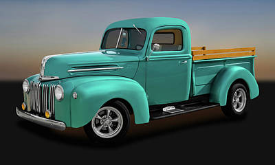 Photograph - 1946 Ford Half Ton Pickup Truck  -  1946fordpickuptrk9973 by Frank J Benz