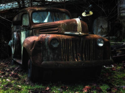 Photograph - 1946 Ford Panel Truck by Thomas Hall