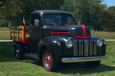 Photograph - 1946 Ford Stake Side Truck by Tim McCullough