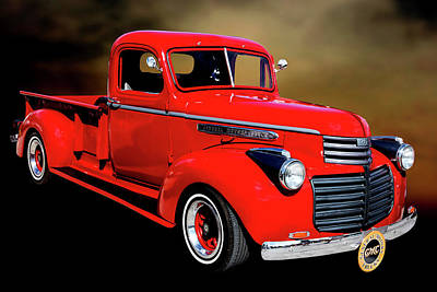 Photograph - 1946 Gmc Pickup Truck 5514 .04 by M K Miller