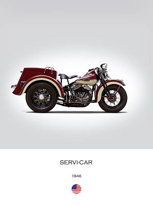 Harley Davidson Photograph - 1946 Harley Servi-car by Mark Rogan