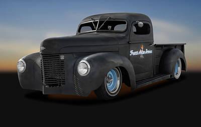 Photograph - 1946 International Pickup Truck  -  1946internationalratrodpickup184396 by Frank J Benz