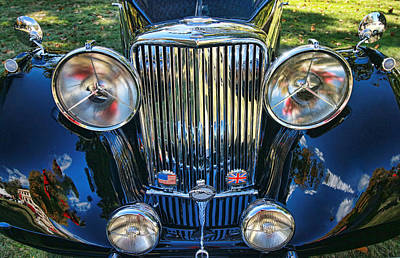 Photograph - 1946 Jaguar M K I V Saloon Front Grill by Allen Beatty