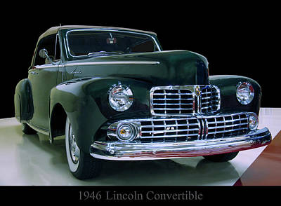 Photograph - 1946 Lincoln Convertible by Chris Flees
