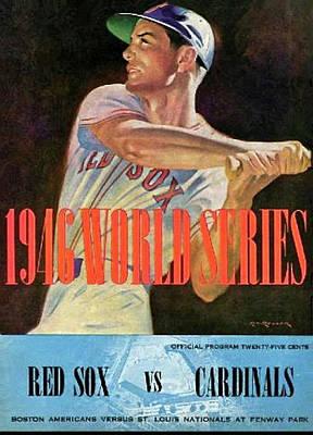 1946 World Series Program, Red Sox Vs Cardinals Art Print