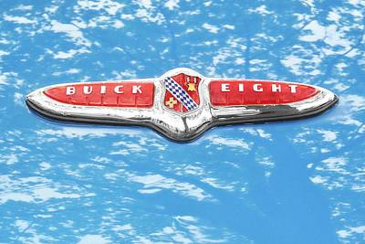 Photograph - 1947 Buick Eight Hood Emblem by Jim Hughes