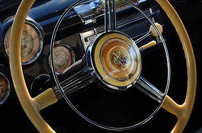 Photograph - 1947 Buick Eight Super Steering Wheel by Jill Reger