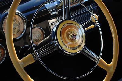 Photograph - 1947 Buick Eight Super Steering Wheel by Jill Reger