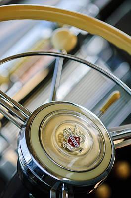 Photograph - 1947 Buick Roadmaster Steering Wheel by Jill Reger