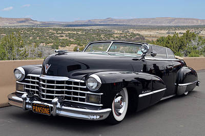Photograph - 1947 Cadillac Convertible by Bill Dutting