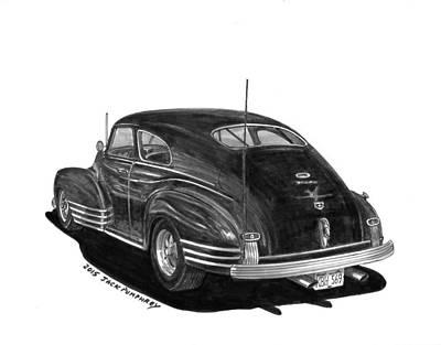 Automotive Drawing - 1947 Chevrolet Fleetline by Jack Pumphrey
