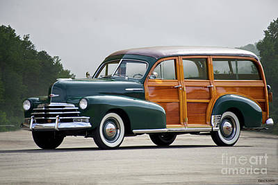 Photograph - 1947 Chevrolet Fleetmaster Woody Wagon  by Dave Koontz