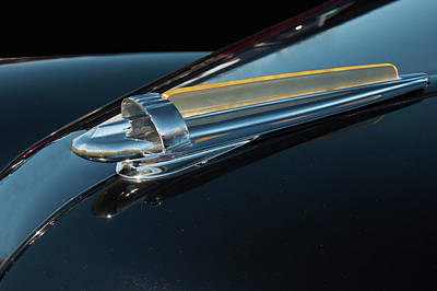 Photograph - 1947 Chevy Bomb Hood Ornament by Chris Flees