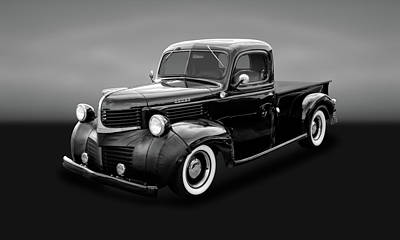 Photograph - 1947 Dodge Brothers Job Rated Pickup Truck  -  47dgetrkblk420 by Frank J Benz