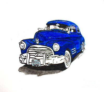 Barrett Jackson Wall Art - Drawing - 1947 Dodge Club Coupe  - Fast Lane by Scott D Van Osdol