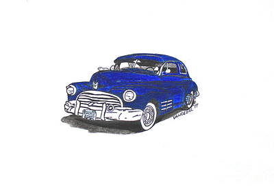 Barrett Jackson Wall Art - Drawing - 1947 Dodge Club Coupe  by Scott D Van Osdol