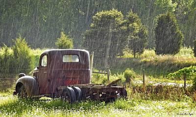 1947 Dodge Truck Photograph - 1947 Dodge Pickup Rain And Sun by Matt Taylor