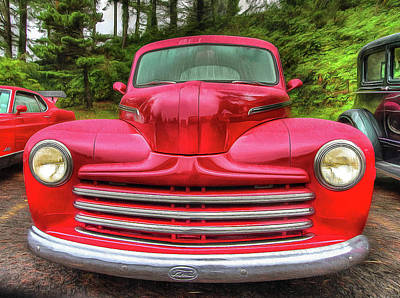 Photograph - 1947 Ford Club Coupe by Thom Zehrfeld