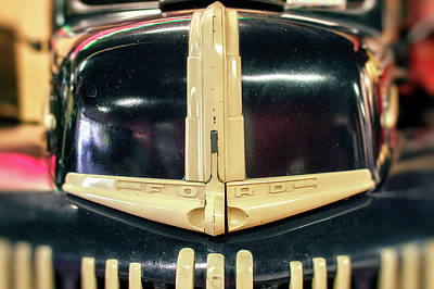 Photograph - 1947 Ford Pickup Grill At Baltimore Museum Of Industry by Bill Swartwout Photography
