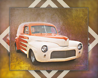 Photograph - 1947 Ford Sedan Delivery B by Walter Herrit