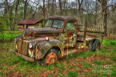 Photograph - 1947 Ford Stakebed Pickup Truck by Reid Callaway
