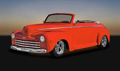 Photograph - 1947 Ford Super Deluxe Convertible  -  1947frdsupdluxcv0084 by Frank J Benz