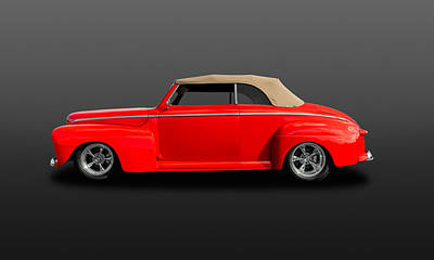 Photograph - 1947 Ford Super Deluxe Convertible  -  47fbsdcv300 by Frank J Benz
