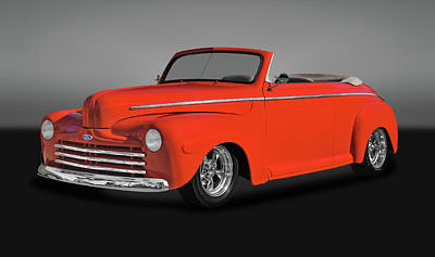 Photograph - 1947 Ford Super Deluxe Convertible  -  47fdsudlxgry0084 by Frank J Benz