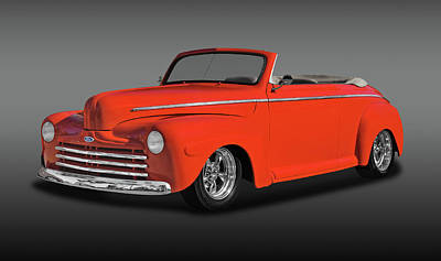 Photograph - 1947 Ford Super Deluxe Convertible  - 1947frdsudlxfa0084 by Frank J Benz